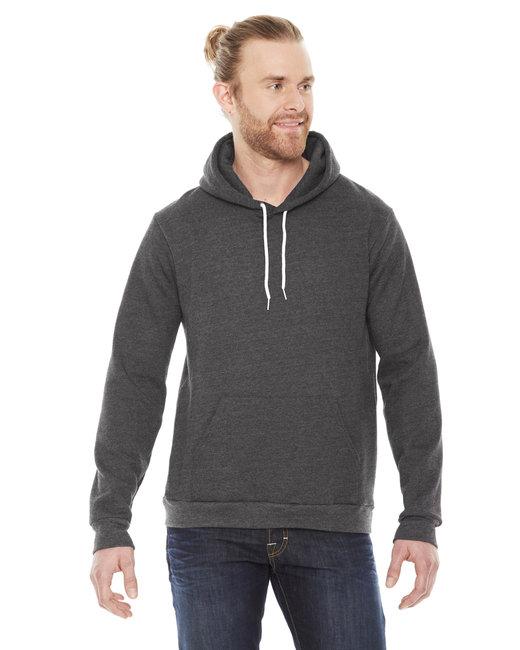 American Apparel Unisex Flex Fleece Drop�Shoulder Pullover Hoodie - Dk Heather Grey