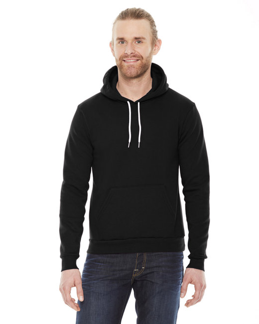 American Apparel Unisex Flex Fleece Drop�Shoulder Pullover Hoodie - Black