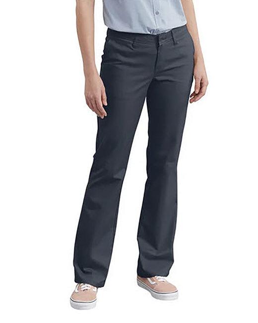 Dickies Ladies' Slim Fit Boot Cut Stretch Twill Pant - Dark Navy  02