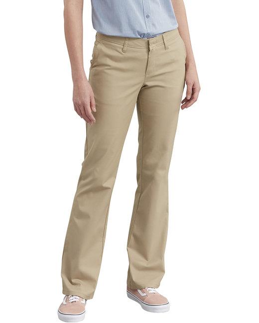 Dickies Ladies' Slim Fit Boot Cut Stretch Twill Pant - Desert Sand  04