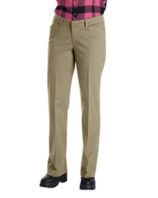 Dickies Ladies' Relaxed Straight Stretch Twill Pant - Desert Sand  08