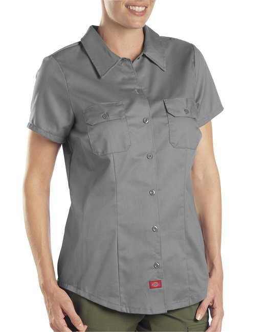 Dickies Ladies' 5.25 oz. Twill Shirt - Graphite