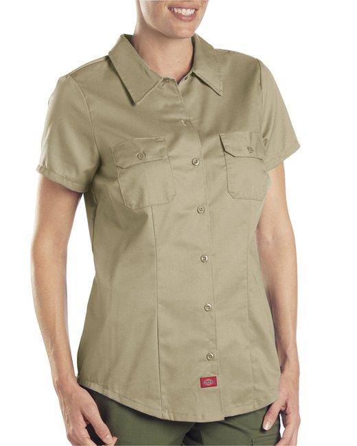 Dickies Ladies' 5.25 oz. Twill Shirt - Khaki