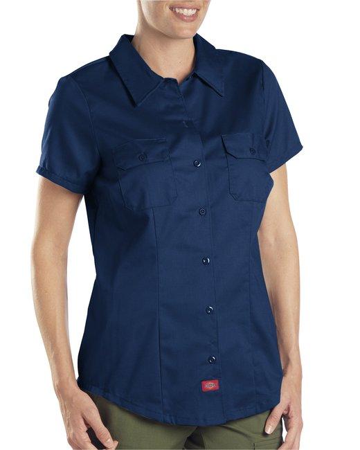 Dickies Ladies' 5.25 oz. Twill Shirt - Dark Navy