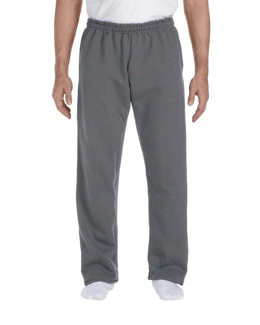Gildan Adult DryBlend Adult 9 oz., 50/50Open-Bottom Sweatpants - Charcoal