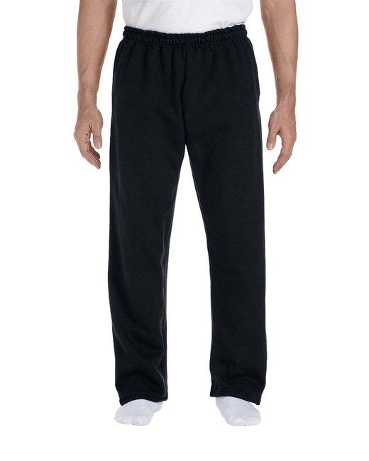 Gildan Adult DryBlend Adult 9 oz., 50/50Open-Bottom Sweatpants - Black