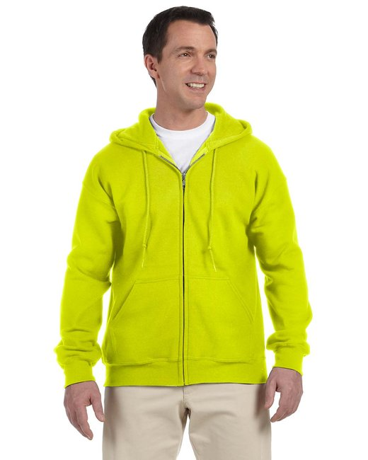 Gildan Adult DryBlend Adult 9 oz., 50/50 Full-Zip Hood - Safety Green