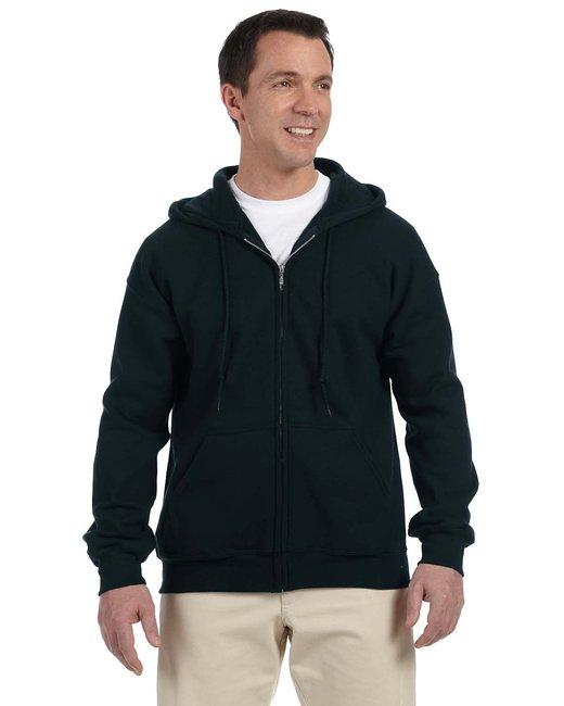 Gildan Adult DryBlend Adult 9 oz., 50/50 Full-Zip Hood - Black