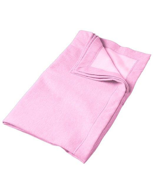 Gildan DryBlend 9 oz. Fleece Stadium Blanket - Light Pink