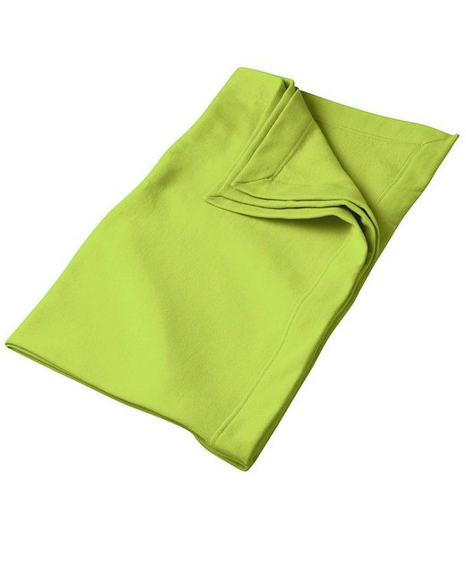 Gildan DryBlend 9 oz. Fleece Stadium Blanket - Safety Green