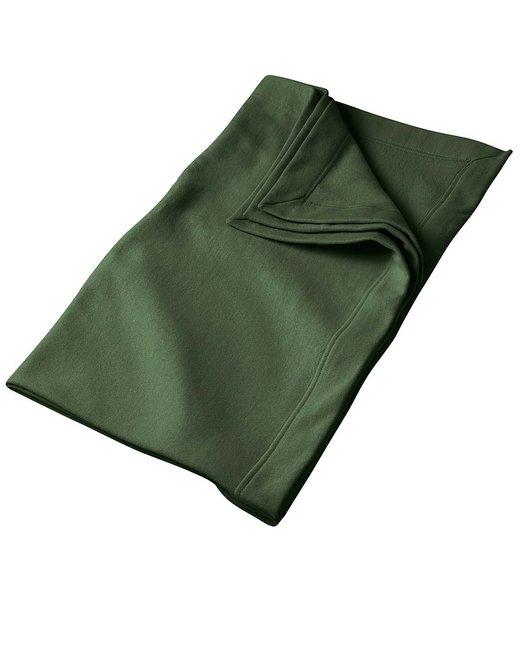 Gildan DryBlend 9 oz. Fleece Stadium Blanket - Forest Green