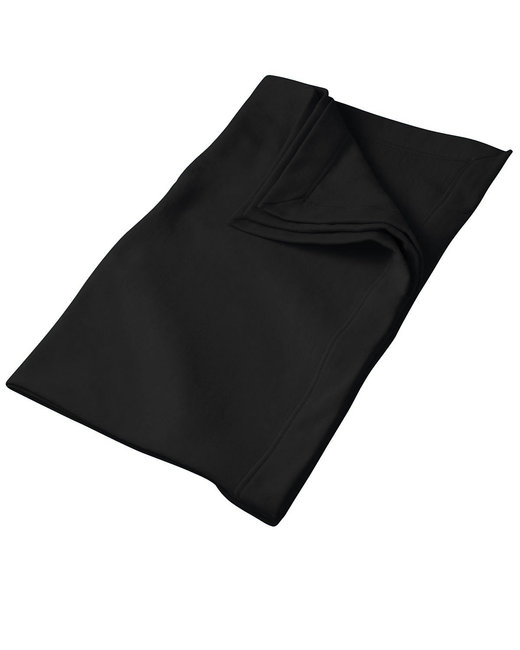 Gildan DryBlend 9 oz. Fleece Stadium Blanket - Black
