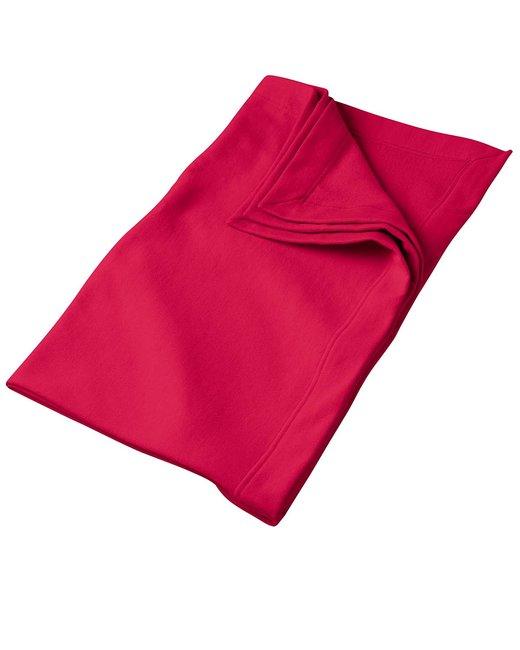 Gildan DryBlend 9 oz. Fleece Stadium Blanket - Red