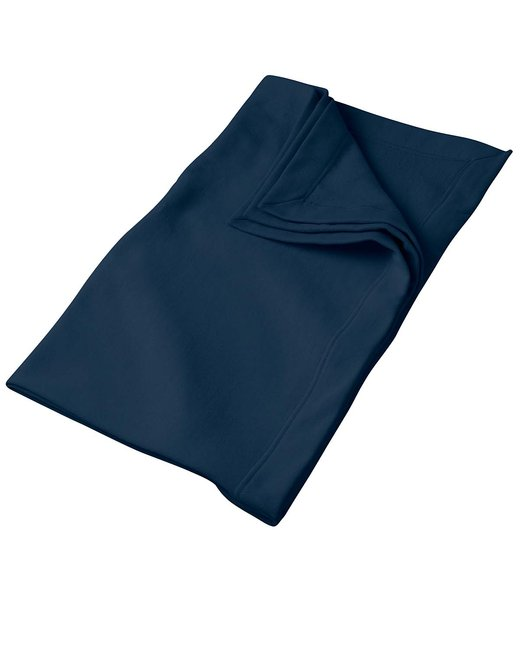 Gildan DryBlend 9 oz. Fleece Stadium Blanket - Navy