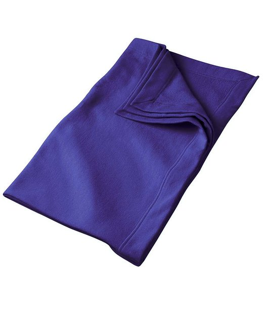 Gildan DryBlend 9 oz. Fleece Stadium Blanket - Purple