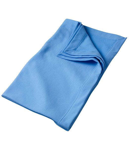 Gildan DryBlend 9 oz. Fleece Stadium Blanket - Carolina Blue