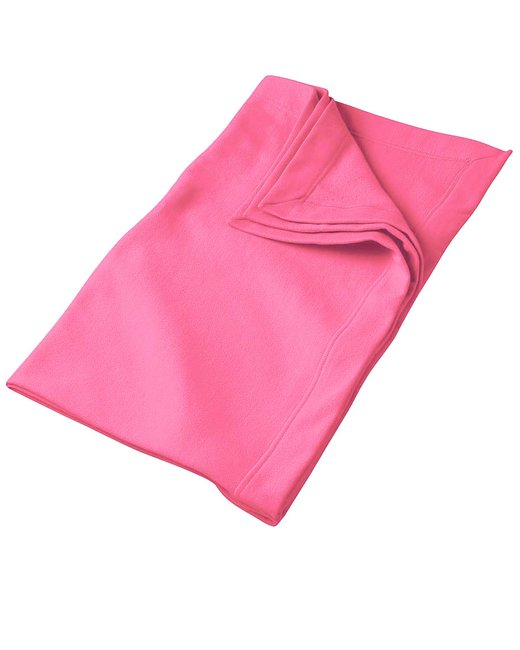 Gildan DryBlend 9 oz. Fleece Stadium Blanket - Safety Pink