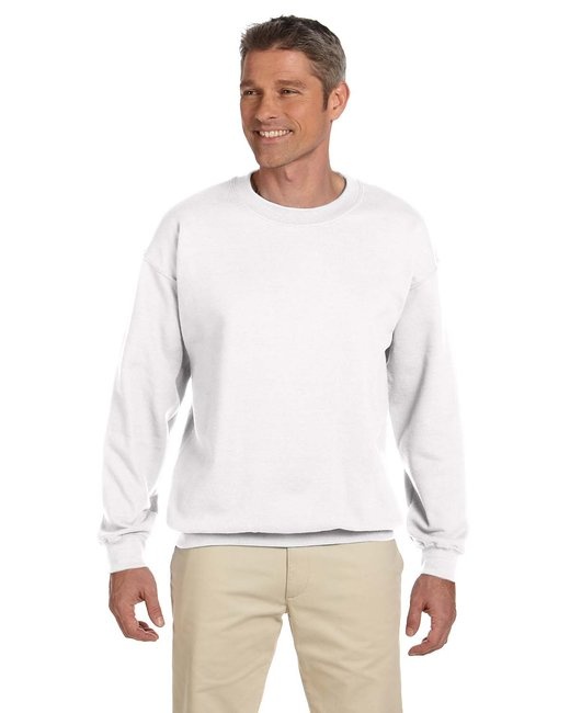 Gildan Adult Heavy Blend Adult 8 oz., 50/50 Fleece Crew - White