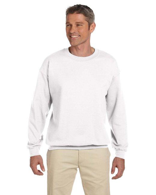 Gildan Adult Heavy Blend Adult 8 oz., 50/50 Fleece Crew - White