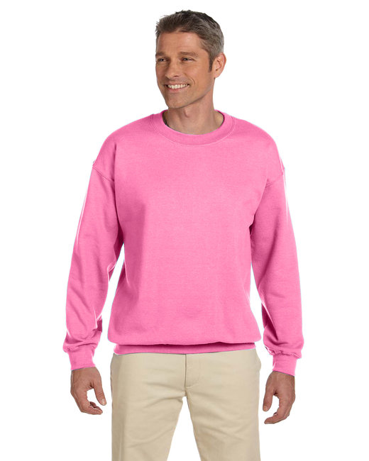 Gildan Adult Heavy Blend Adult 8 oz., 50/50 Fleece Crew - Azalea