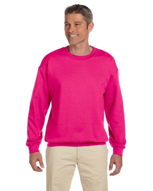 Gildan Adult Heavy Blend Adult 8 oz., 50/50 Fleece Crew - Heliconia