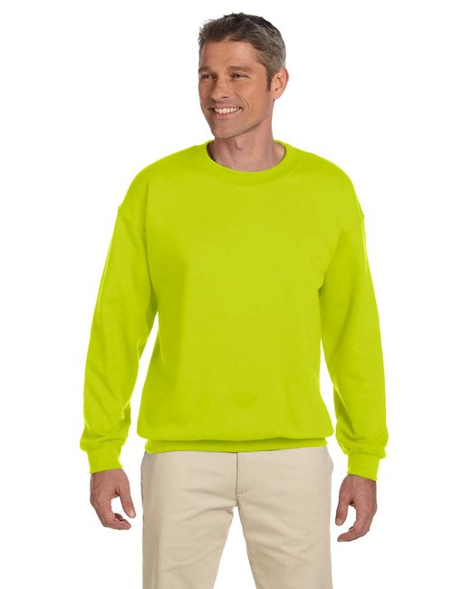 Gildan Adult Heavy Blend Adult 8 oz., 50/50 Fleece Crew - Safety Green