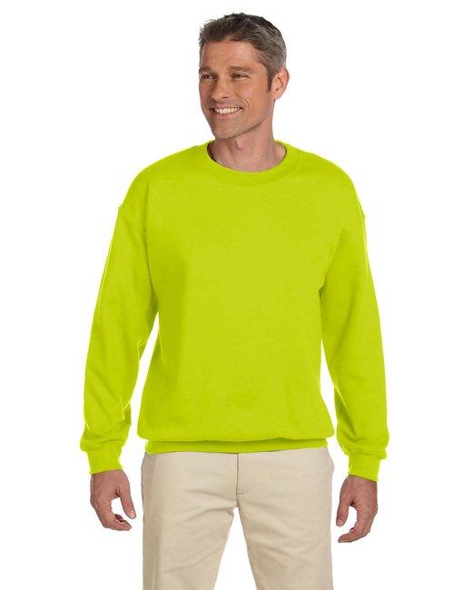 Gildan Adult Heavy Blend Adult 8 oz., 50/50 Fleece Crew - Safety Green