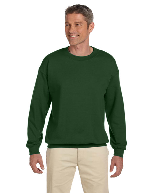 Gildan Adult Heavy Blend Adult 8 oz., 50/50 Fleece Crew - Forest Green