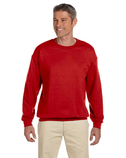 Gildan Adult Heavy Blend Adult 8 oz., 50/50 Fleece Crew - Red
