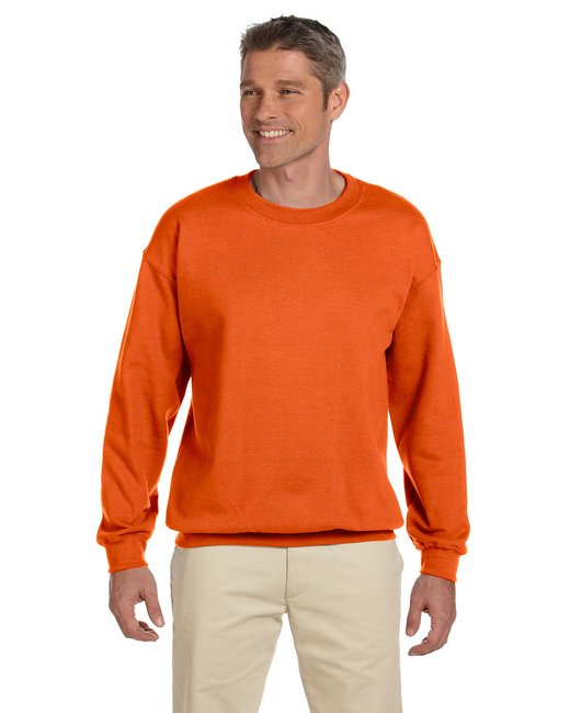 Gildan Adult Heavy Blend Adult 8 oz., 50/50 Fleece Crew - Orange