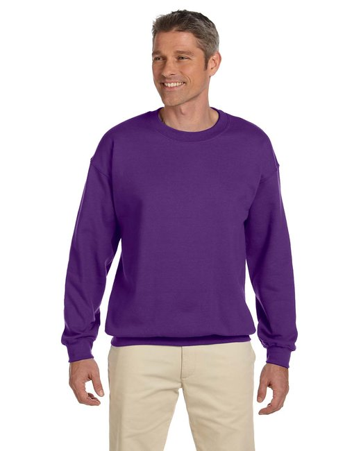 Gildan Adult Heavy Blend Adult 8 oz., 50/50 Fleece Crew - Purple