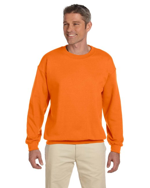 Gildan Adult Heavy Blend Adult 8 oz., 50/50 Fleece Crew - S Orange
