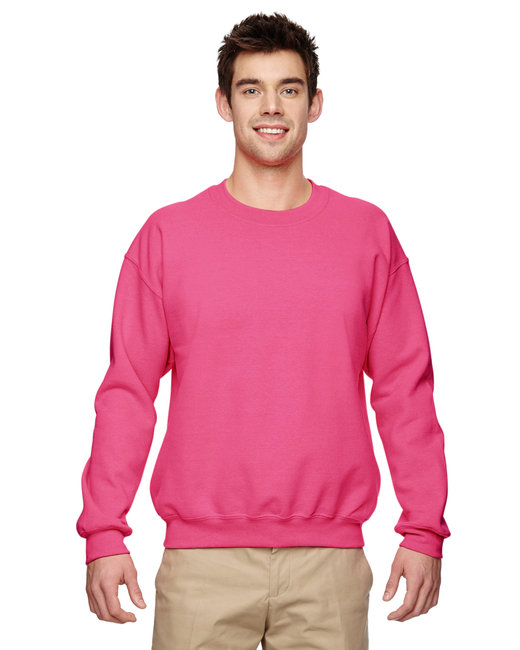 Gildan Adult Heavy Blend Adult 8 oz., 50/50 Fleece Crew - Safety Pink