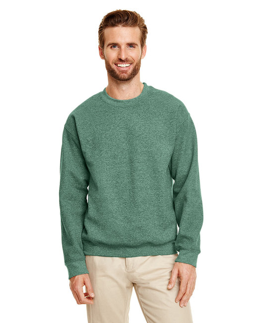 Gildan Adult Heavy Blend Adult 8 oz., 50/50 Fleece Crew - Hth Sp Drk Green