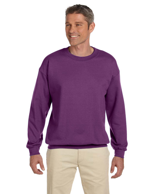 Gildan Adult Heavy Blend Adult 8 oz., 50/50 Fleece Crew - Plum