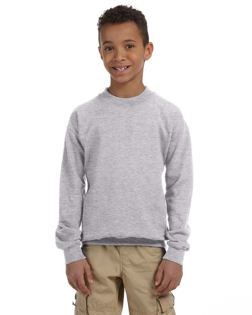 Gildan Youth Heavy Blend 8 oz., 50/50 Fleece Crew - Sport Grey