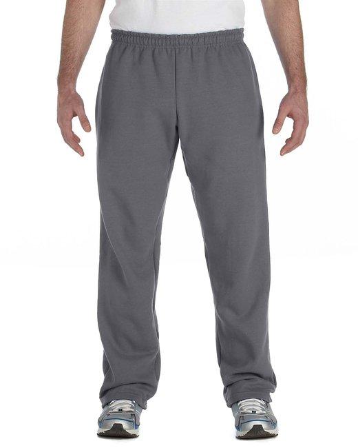 Gildan Adult Heavy Blend Adult 8 oz., 50/50 Open-Bottom Sweatpants - Charcoal