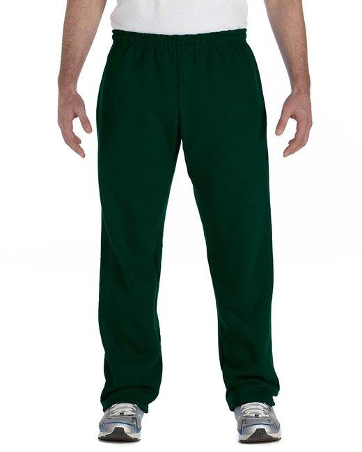 Gildan Adult Heavy Blend Adult 8 oz., 50/50 Open-Bottom Sweatpants - Forest Green