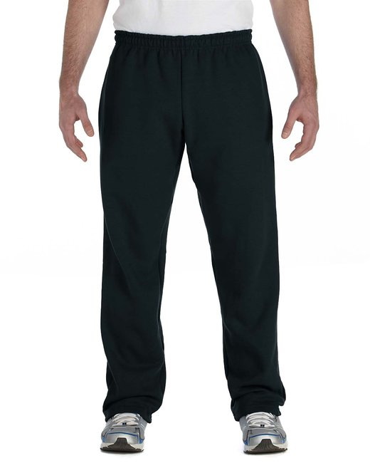Gildan Adult Heavy Blend Adult 8 oz., 50/50 Open-Bottom Sweatpants - Black