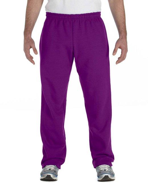 Gildan Adult Heavy Blend Adult 8 oz., 50/50 Open-Bottom Sweatpants - Purple