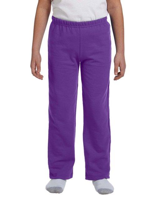 Gildan Youth Heavy Blend™ 8 oz., 50/50 Open-Bottom Sweatpants - Purple