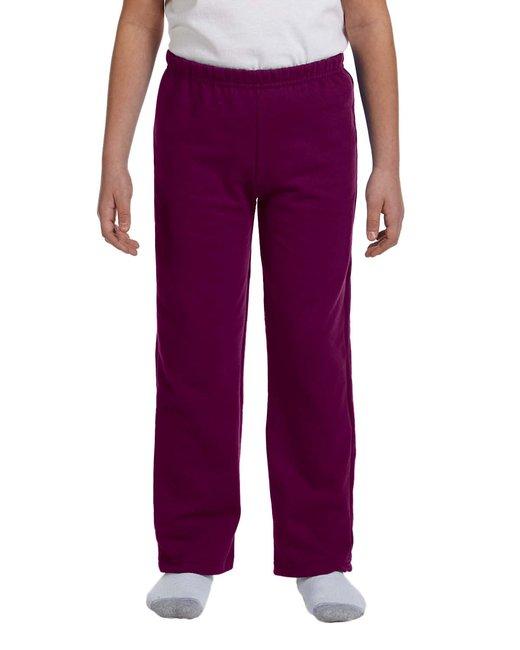 Gildan G184B - Heavy Blend? Youth 8 oz., 50/50 Open-Bottom Sweatpants - Maroon - M at Sears.com