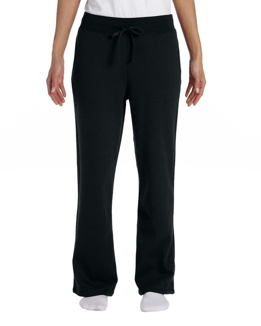 Gildan Ladies' Heavy Blend Ladies 8 oz., 50/50 Open-Bottom Sweatpants - Black