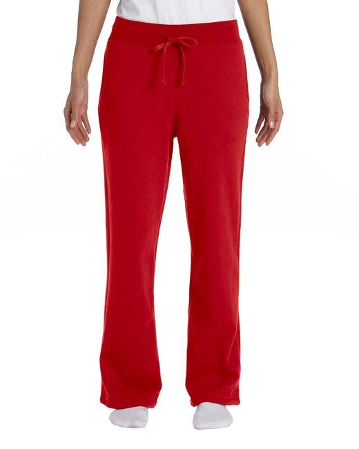 Gildan Ladies' Heavy Blend Ladies 8 oz., 50/50 Open-Bottom Sweatpants - Red