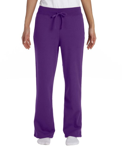 G184FL Gildan Ladies' Heavy Blend™  8 oz., 50/50 Open-Bottom Sweatpants
