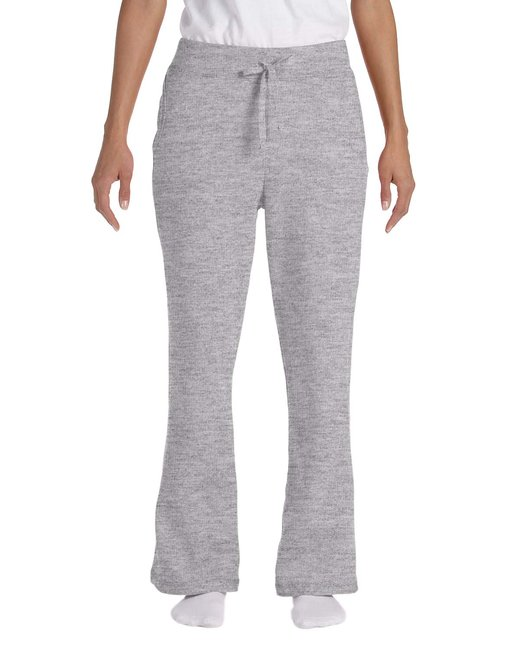 Gildan Ladies' Heavy Blend Ladies 8 oz., 50/50 Open-Bottom Sweatpants - Sport Grey