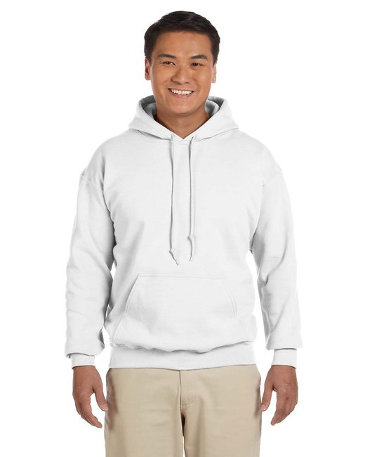 Gildan Adult Heavy Blend 8 oz., 50/50 Hood - White