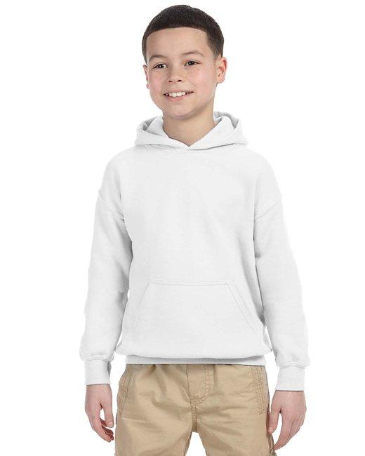 Gildan Youth Heavy Blend 8 oz., 50/50 Hood - White