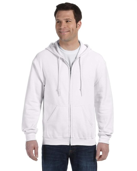 Gildan Adult Heavy Blend Adult 8 oz., 50/50 Full-Zip Hood - White