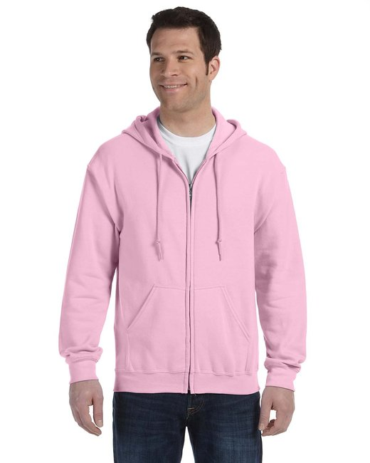 Gildan Adult Heavy Blend Adult 8 oz., 50/50 Full-Zip Hood - Light Pink
